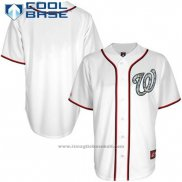 Maglia Baseball Uomo Washington Nationals Bianco Cool Base button Up